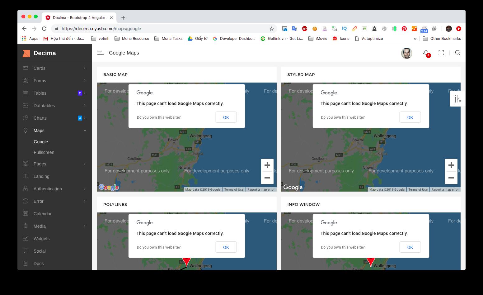Phần mềm web app bản đồ