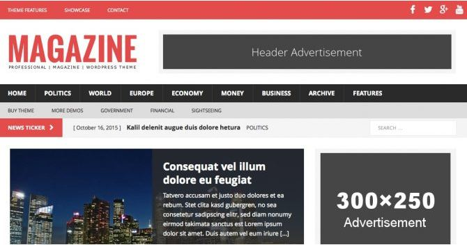 Giao diện wordpress responsive Magazine