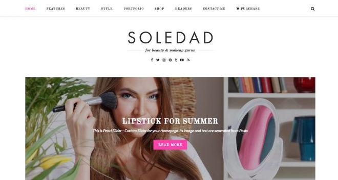 Giao diện wordpress responsive Soledad