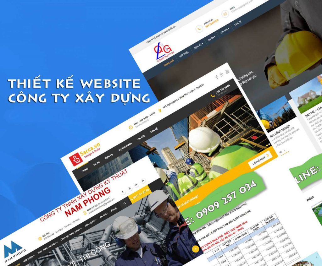 công ty thiết kế website xây dựng