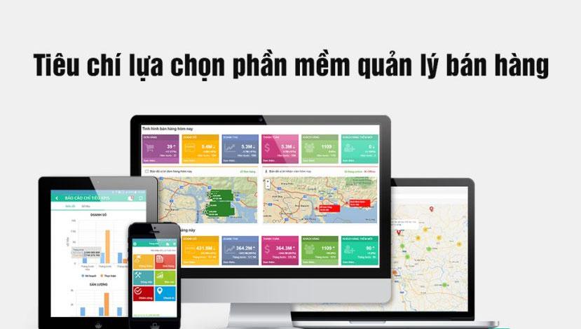 Tiêu chí chọn phần mềm quản lý bán hàng