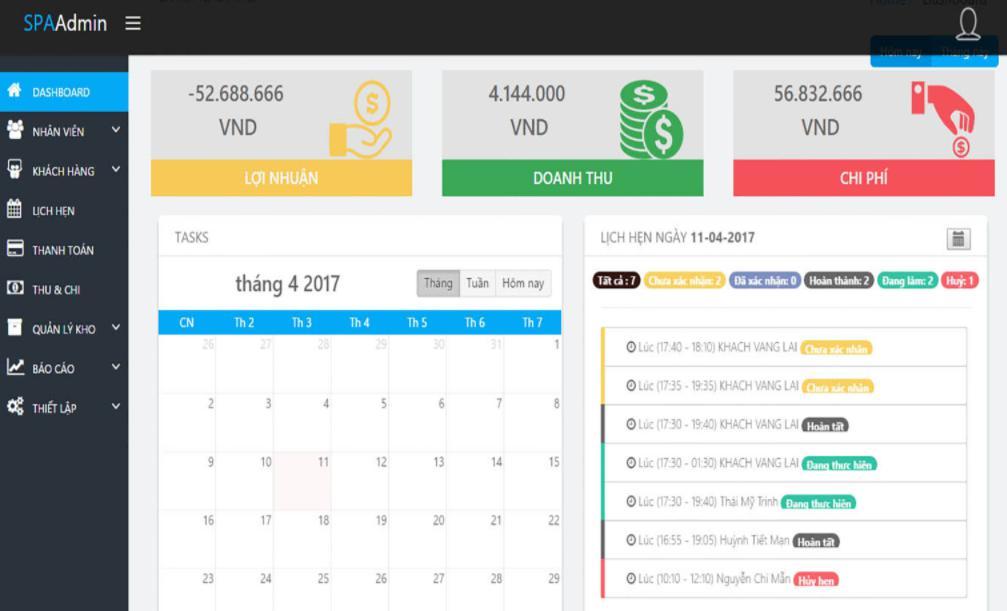 Đặt lịch hẹn qua phần mềm quản lý spa