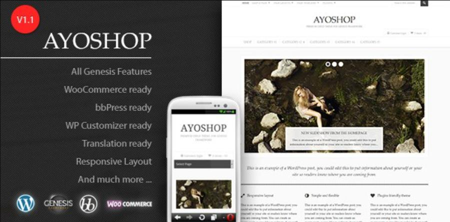 theme wordpress free bán hàng AyoShop