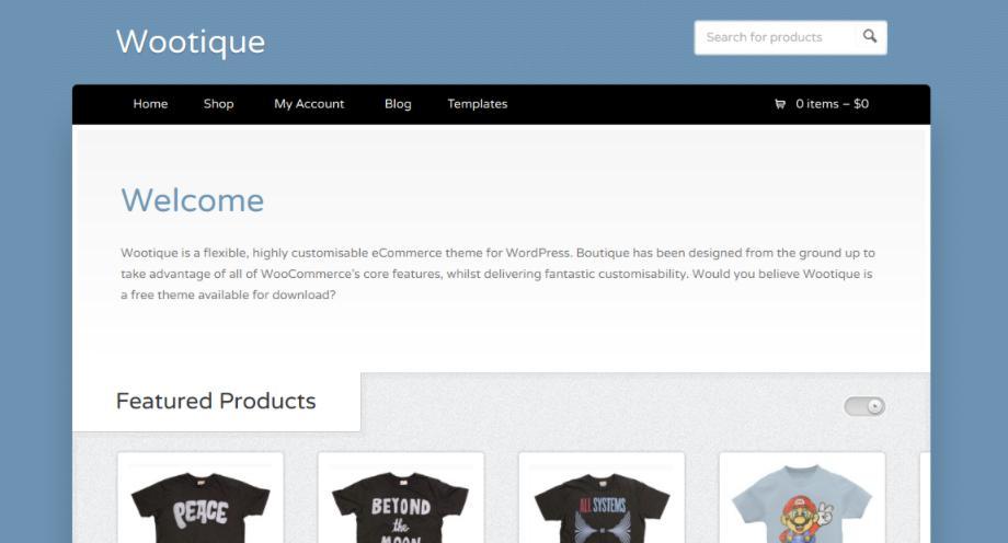 theme wordpress bán hàng miễn phí Wootique