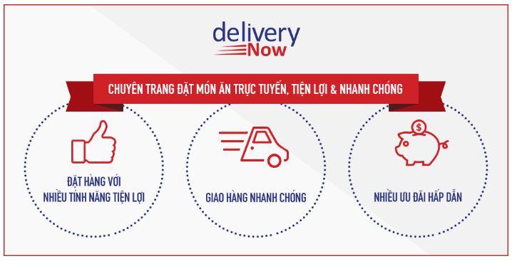 Delivery now - ứng dụng đặt món ăn online nhanh chóng