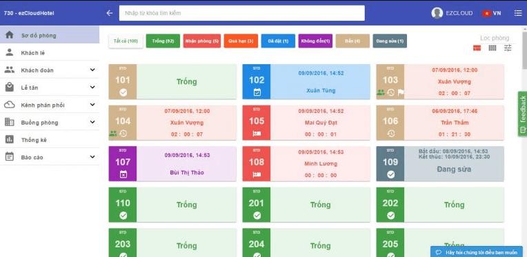 Phần mềm quản lý EzCloudhotel