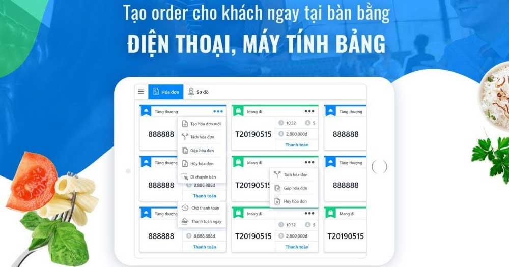 Phần mềm Order nhà hàng sẽ giúp bạn vận hàng và quản lý toàn bộ kinh doanh ngay trên Smartphone