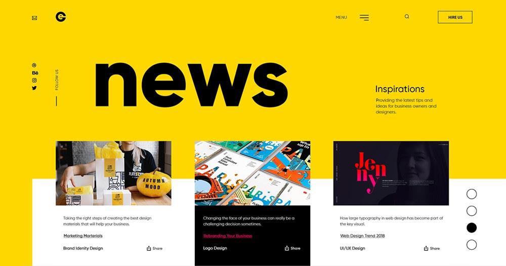 Chú ý tới UI/UX trong thiết kế web tin tức