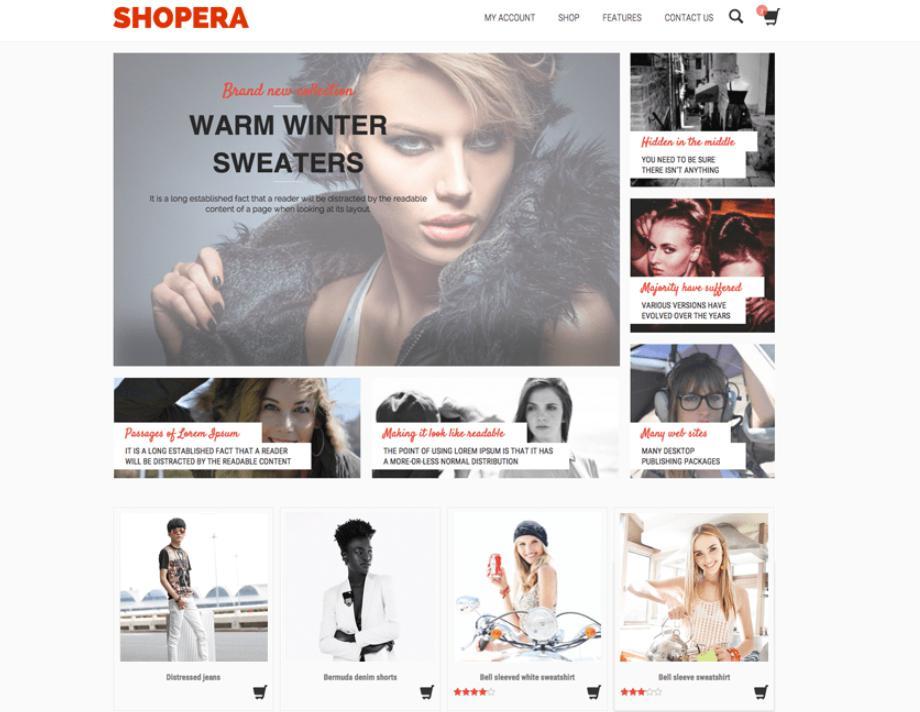 theme bán hàng đẹp cho wordpress Shopera